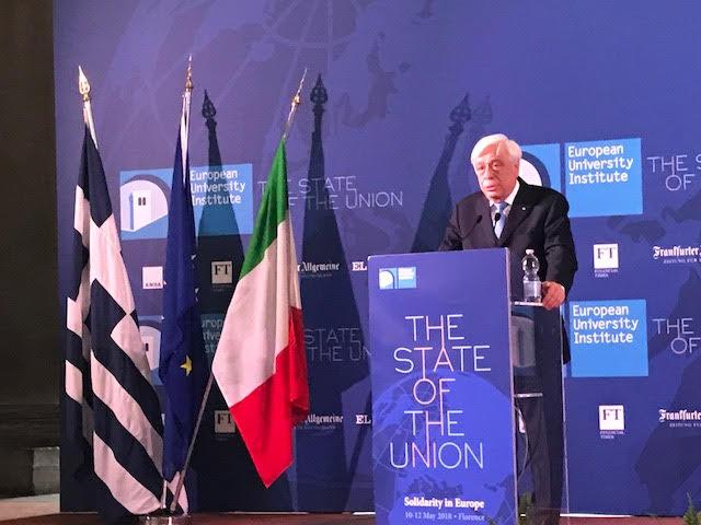Πρ. Παυλόπουλος: Η αλληλεγγύη, θεμελιώδης αρχή για τη συνεκτικότητα και τη βιωσιμότητα της Ε.Ε. (ΦΩΤΟ)