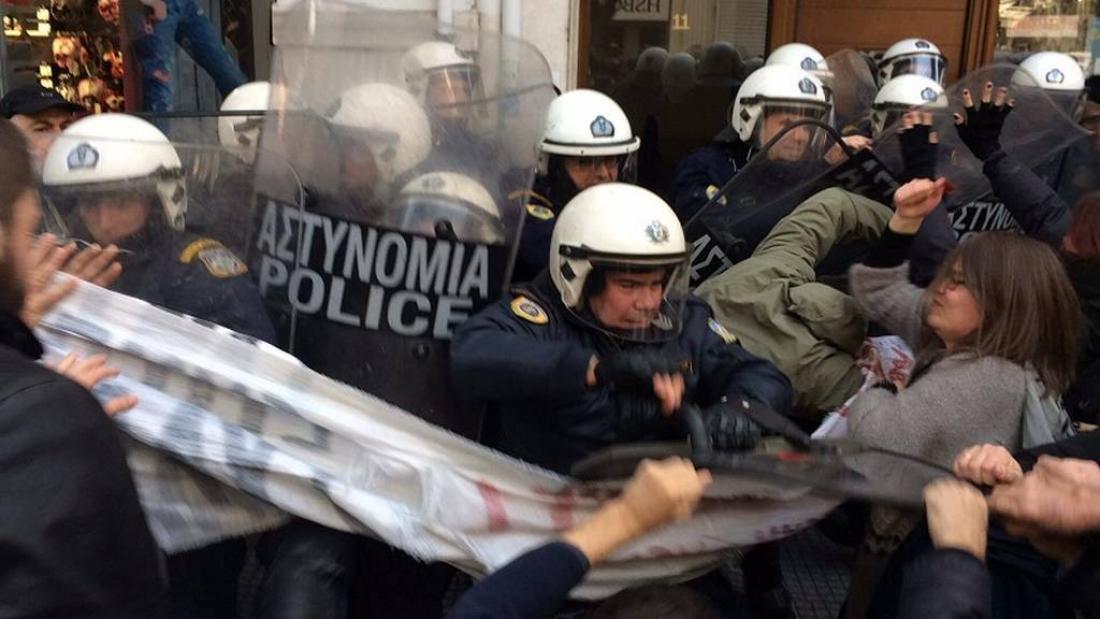 Αποτέλεσμα εικόνας για πλειστηριασμοί συγκρούσεις θεσσαλονίκη