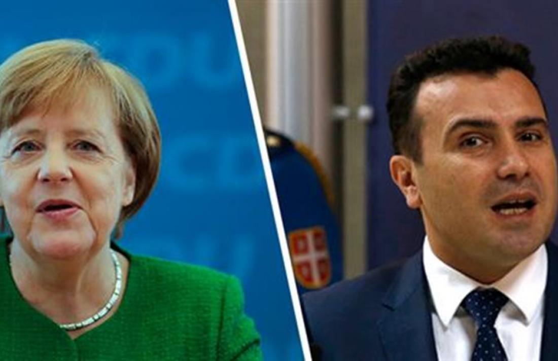 Μέρκελ: «Η θέση μου είναι ότι το ζήτημα πρέπει να λυθεί»-Ζάεφ: Η Ελλάδα έχει πρόβλημα με το συνταγματικό μας όνομα