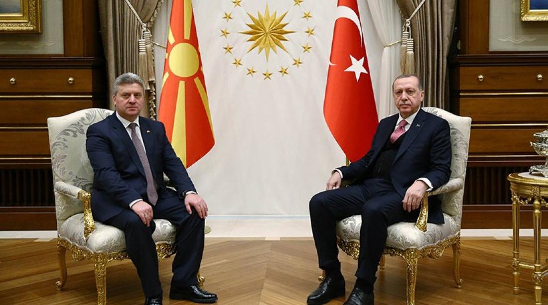 Παραμένει βαστάζος των Σκοπιανών ο Ερντογάν μετά την συνάντησή του με τον Ιβάνοφ