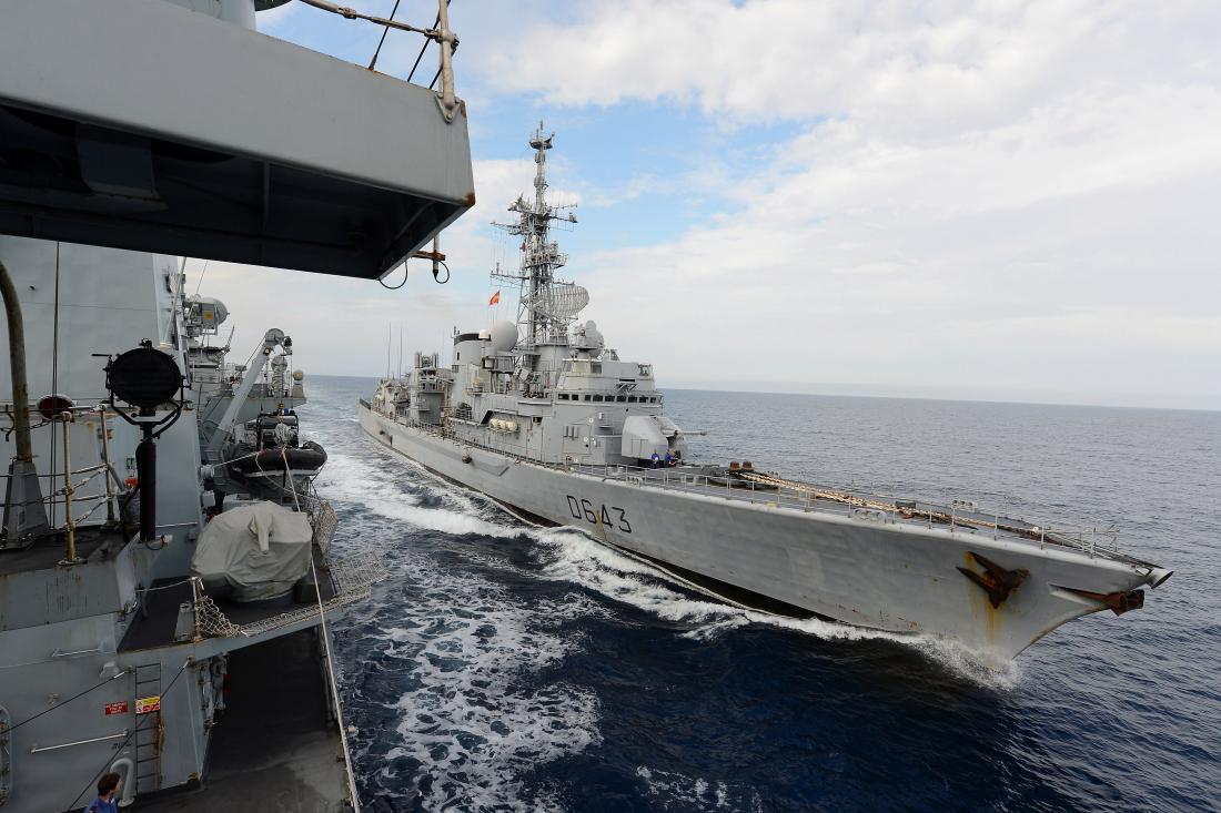 Μια γαλλική φρεγάτα πέρασε ανεμπόδιστα από σημείο όπου ίσχυετουρκική NAVTEX-Χείρα βοηθείας και υποστήριξης των Γάλλων