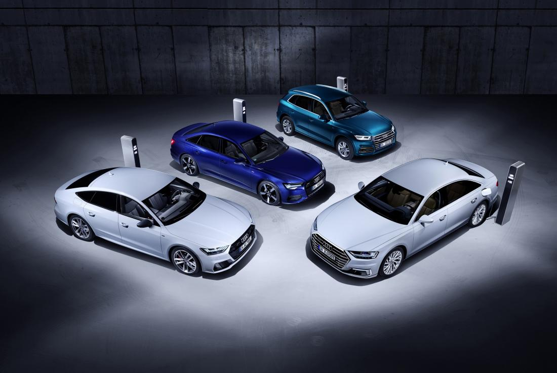Η Audi παρουσιάζει στο 89o Σαλόνι Αυτοκινήτου της Γενεύης τις plug-in υβριδικές εκδόσεις για τα Q5, A6, A7, A8