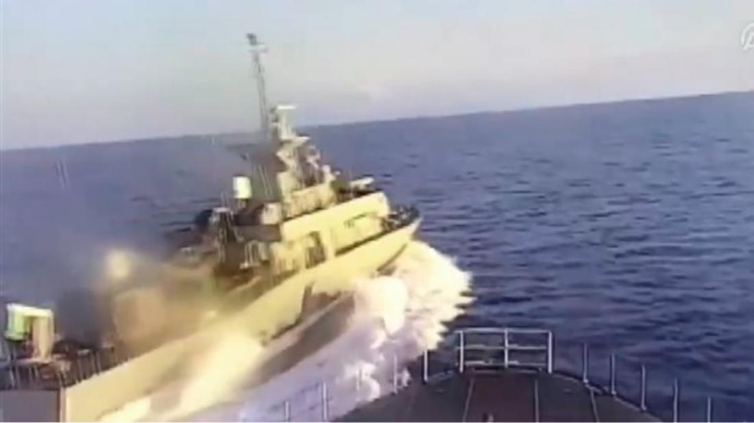 Τουρκική «μονταζιέρα» Anadolu: Ελληνική πυραυλάκατος παρενόχλησε τουρκική κορβέτα (video)
