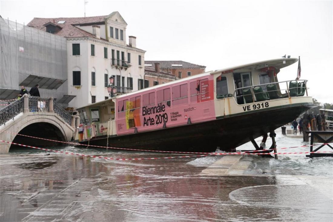 Σε κατάσταση φυσικής καταστροφής κηρύσσεται η Βενετία