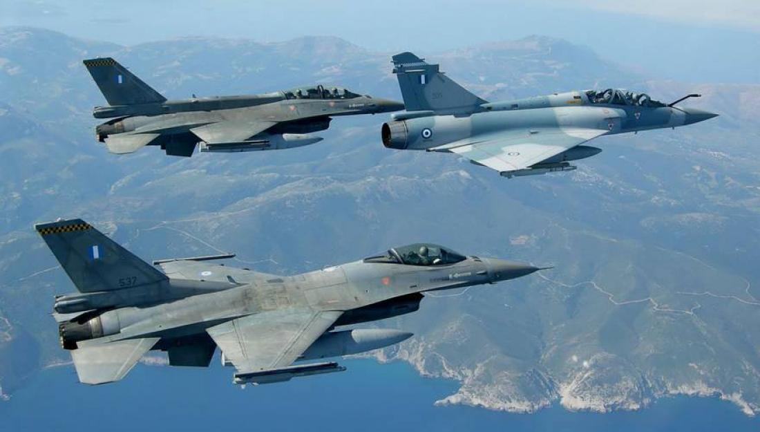 Απάντηση ισχύος στην Τουρκία: Σηκώσαμε χθες 38 F-16 και Mirage πάνω από το Αιγαίο