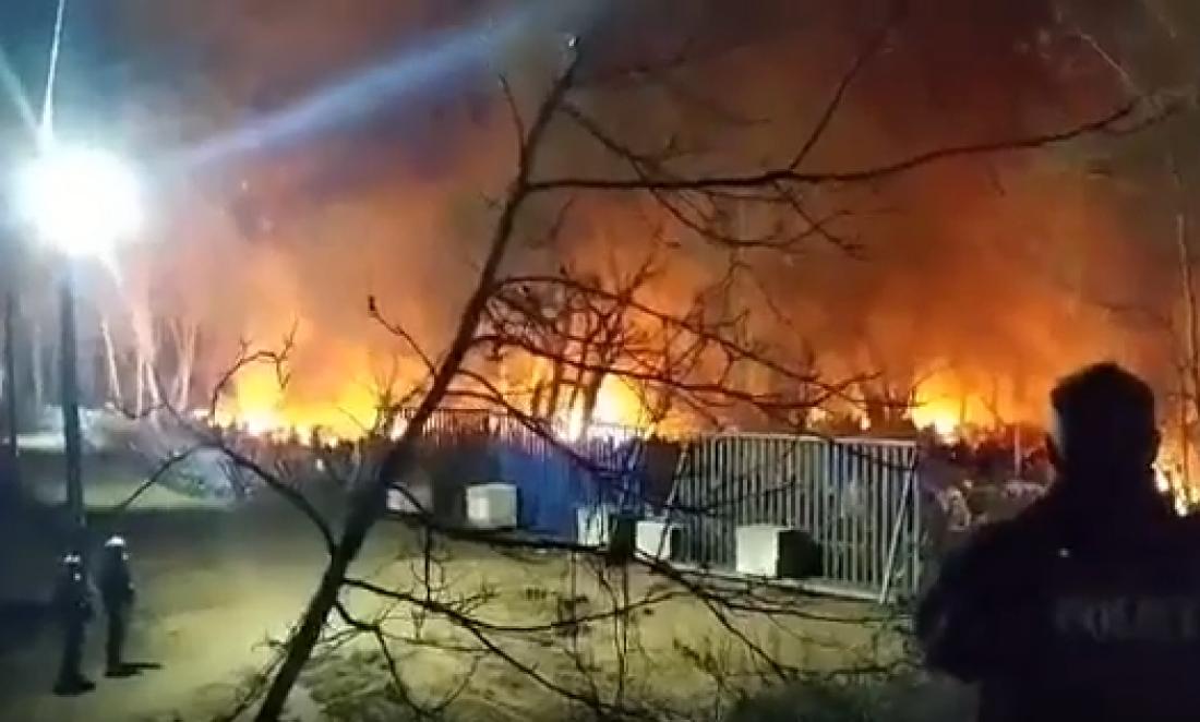 Έβρος: Φωτιές κατέστρεψαν τον καταυλισμό των μεταναστών - Οι Τούρκοι απομακρύνουν τους πρόσφυγες (ΒΙΝΤΕΟ)