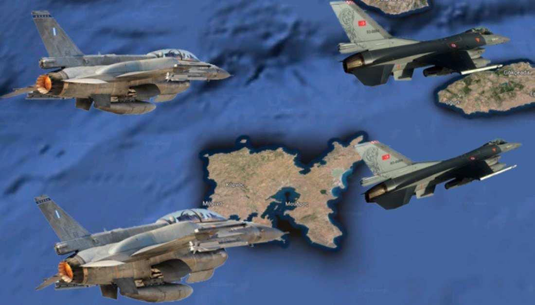 Νέες τουρκικές παραβίασεις μέχρι και εικονική αερομαχία ελληνικών και τουρκικών F-16 στο Αιγαίο