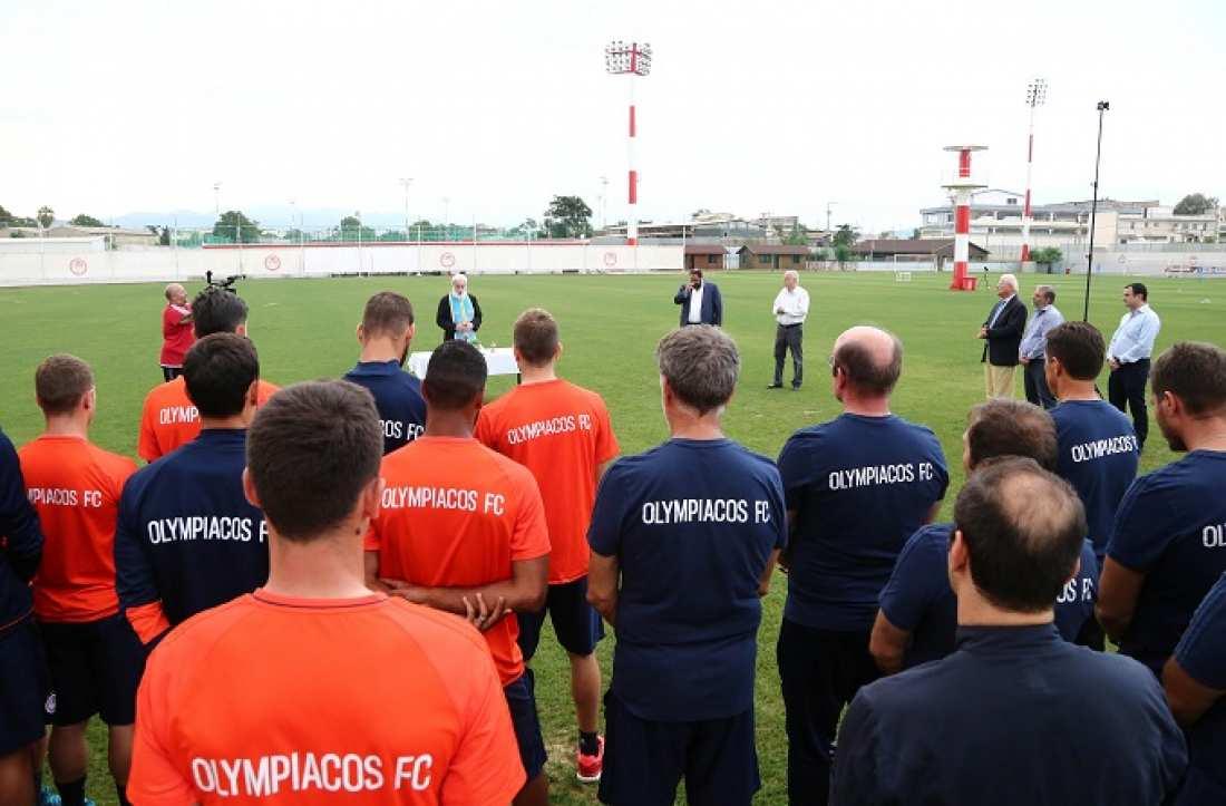 Αγιασμός για τον Ολυμπιακό, παρουσία Μαρινάκη (ΦΩΤΟ)