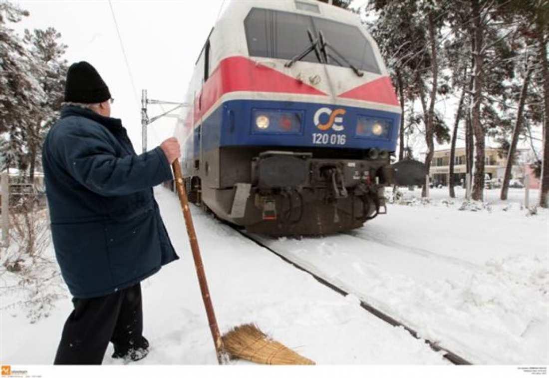 Αναστέλλονται δρομολόγια τρένων στο σιδηροδρομικό άξονα Αθήνα-Θεσσαλονίκη λόγω της σφοδρής κακοκαιρίας