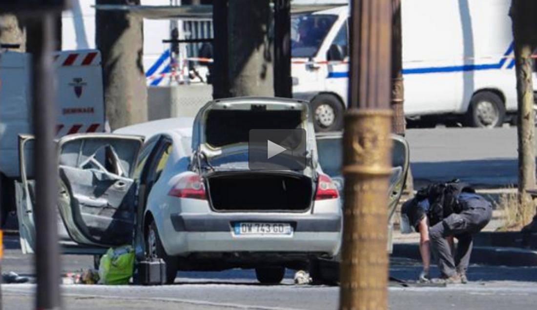 """Απόπειρα επίθεσης-Παρίσι: Γνωστός στις Αρχές για συμμετοχή στο """"σαλαφιστικό κίνημα"""" ο δράστης στα Ηλύσια"""