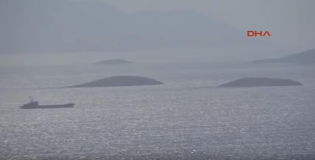 Πρόκληση από το τουρκικό Ναυτικό: Έκαναν βόλτα στα Ίμια (ΒΙΝΤΕΟ)
