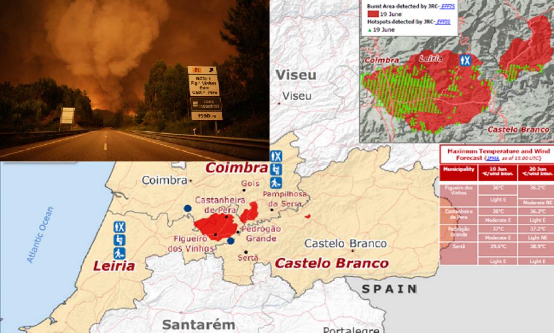 Έκτακτη τηλεδιάσκεψη Ευρωπαϊκών Αρχών για την Πορτογαλία-Στους 63 οι νεκροί-Κόλαση του Δάντη