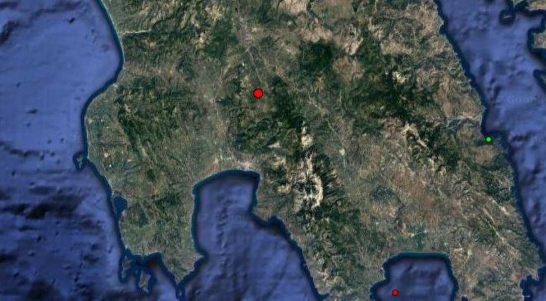 Σεισμός 3,6 Ρίχτερ στην Αρκαδία-Έγινε αισθητός σε τρεις νομούς