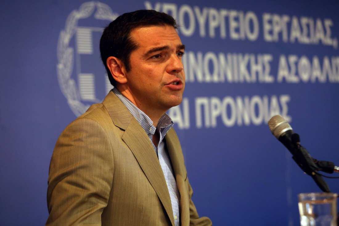 Επίσκεψη Αλ. Τσίπρα στο υπουργείο Εργασίας: Εθνικός στόχος η ανάκτηση της εργασίας και η δημιουργία ενός νέου κοινωνικού κράτους