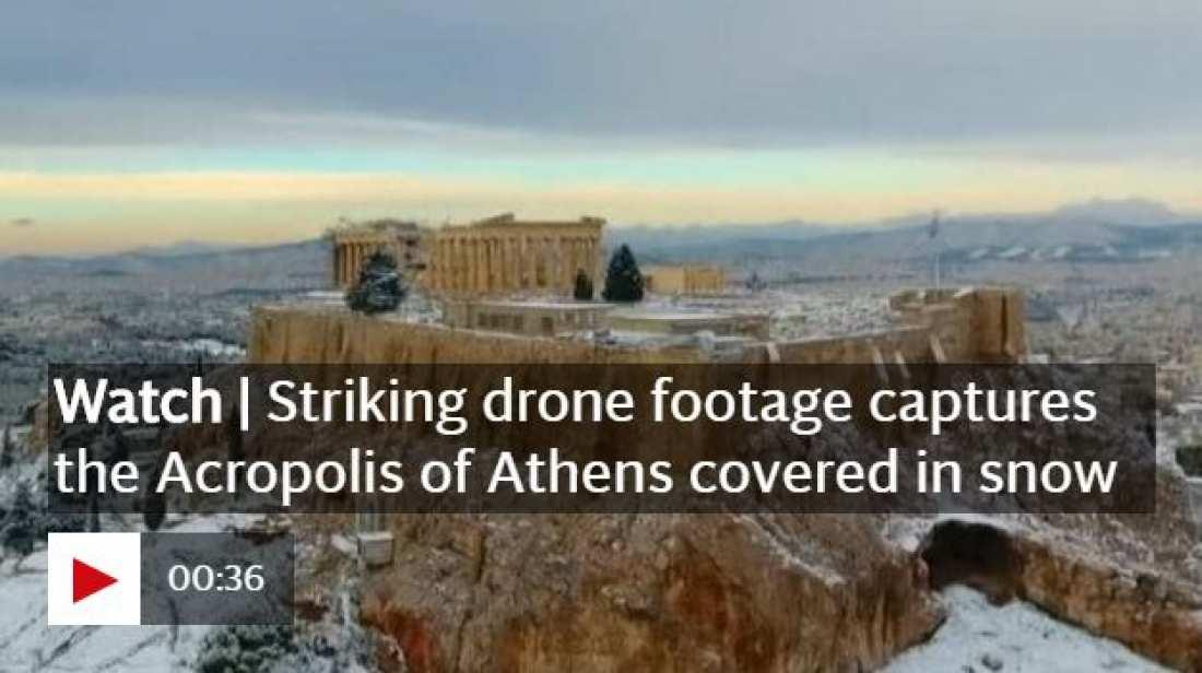 Θέμα στην Telegraph η χιονισμένη Αθήνα! (ΒΙΝΤΕΟ)
