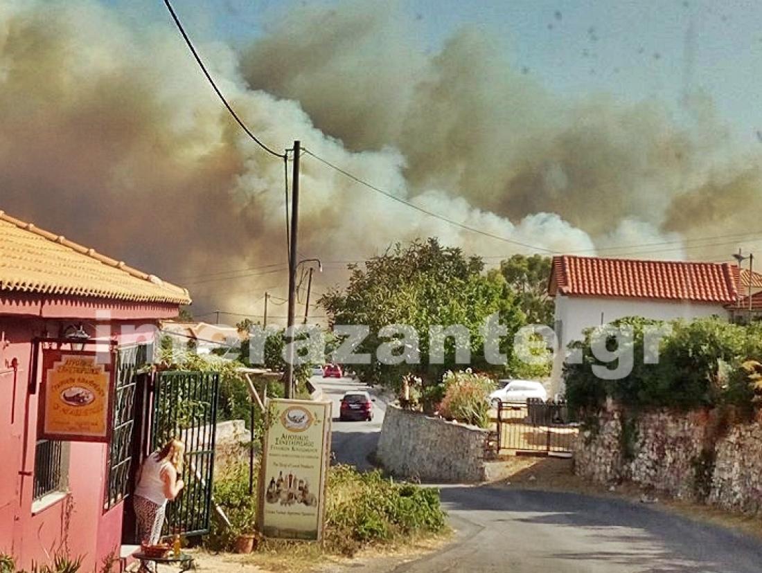 Και νέα πυρκαγιά στην Ζάκυνθο στην άλλη άκρη του νησιού-Στο στόχαστρο εμπρηστών το νησί;