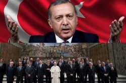 """Μέχρι και με τον Πάπα τα έβαλε ο Ερντογάν-""""Είστε ένωση Σταυροφόρων και Ναζί!"""""""