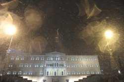Χιόνι στο κέντρο της Αθήνας