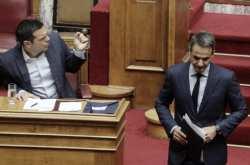 Μετωπική στην Βουλή: Μητσοτάκης:  Είστε στο 15%, φύγετε!- Πόσα ένσημα κολλήσατε;Η Αριστερά είναι η μήτρα της τρομοκρατίας-Τσίπρας:Άσκοπη η πρόταση εξεταστικής για το Noor 1-Είπατε ότι χάσαμε με 5-0 αλλά μας τρελάνατε στα αυτογκόλ
