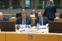 Παρουσία ΥΕΘΑ Πάνου Καμμένου στη Σύνοδο Υπουργών Άμυνας της Ευρωπαϊκής Ένωσης στις Βρυξέλλες