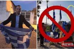 Αλβανική πρόκληση! Έκαψαν ελληνική σημαία και βεβήλωσαν μνημείο (ΒΙΝΤΕΟ)