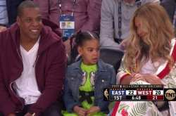 Beyonce και Jay Z στο All Star Game του NBA