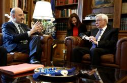Συνάντηση Π. Μοσκοβισί-Π.Παυλόπουλου: Θα βρεθεί λύση για το ελληνικό χρέος