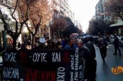 Διαμαρτυρία στη Θεσσαλονίκη για τα ανοιχτά καταστήματα την Κυριακή