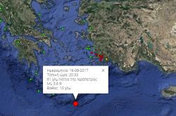 Νέα σεισμική δόνηση αναστάτωσε αυτή τη φορά την Νότια Κρήτη