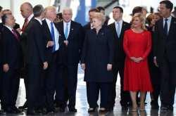 Κάντε στην πάντα, περνάει ο ...Τραμπ!!! - Απίστευτη ενέργεια στη Σύνοδο του ΝΑΤΟ (ΒΙΝΤΕΟ)