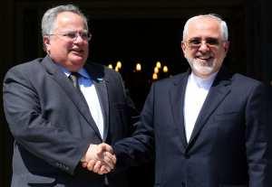 Για την διμερή συνεργασία Ελλάδας-Ιράν συζήτησαν Κοτζιάς-Ζαρίφ
