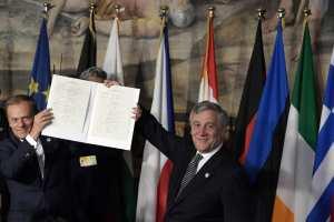 Τουσκ-Τζεντιλόνι «Η Ε.Ε. είτε θα παραμείνει ενωμένη είτε δεν θα υπάρχει»