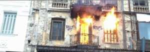 Φωτιά βρίσκεται σε εξέλιξη σε ακατοίκητο κτίσμα επί της Ερμού