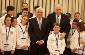 Ο Πρόεδρος της Δημοκρατίας υποδέχθηκε μαθητές, μαθήτριες, καθηγητές από την σχολή Σαχέτι του Γιοχάνεσμπουργκ και μίλησε για τον ελληνικό πολιτισμό